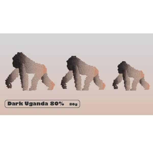 Uganda dark chocolate bar