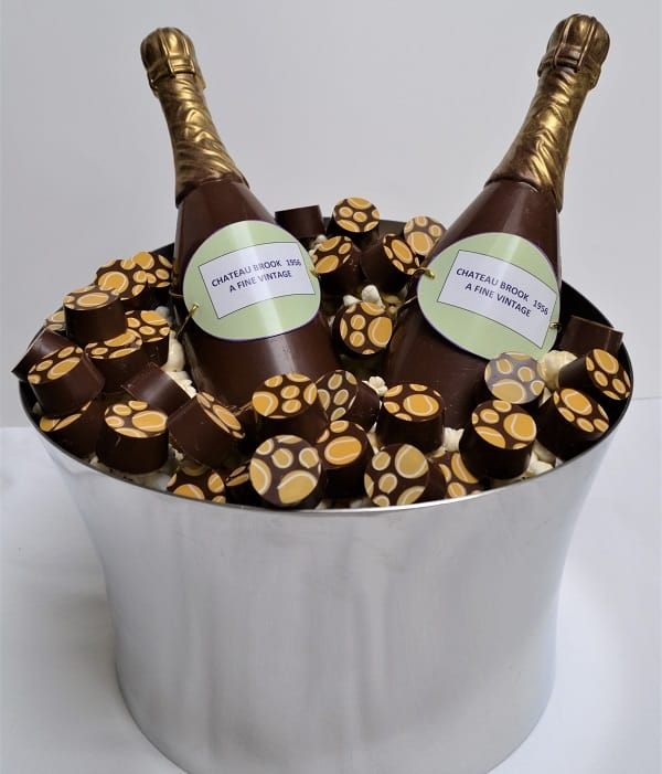 champagne chocolate bottles