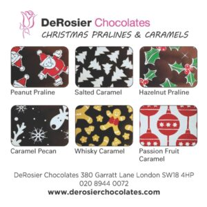 Christmas chocolates flavour card 600px