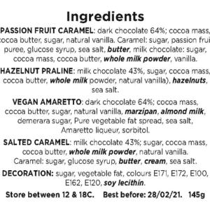 Valentines Day Flavour Card Ingredients